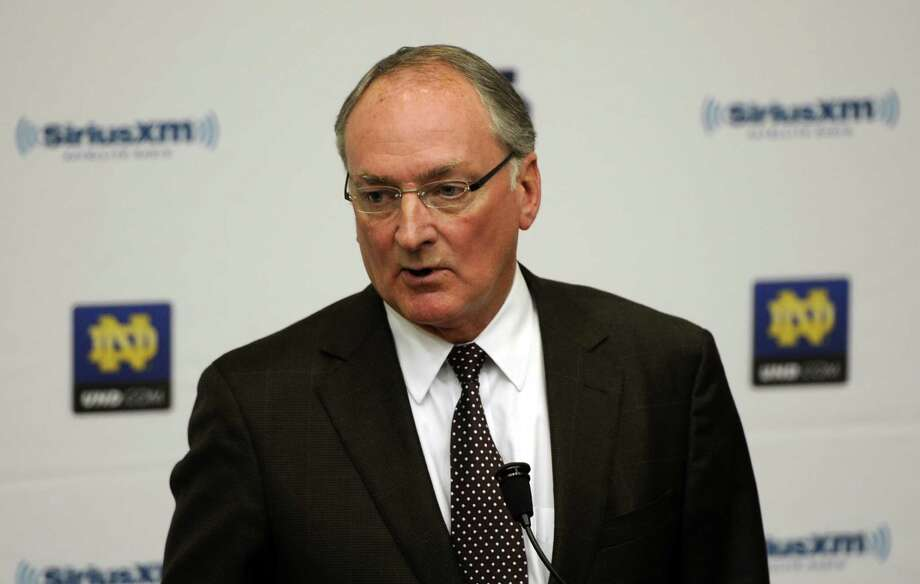 Jack Swarbrick: Notre Dame AD — Another one of Dodds' buddies helped negotiate the Irish into the Atlantic Coast Conference while keep much of their football independence. He was the runner-up to Bowlsby when the Big 12 chose its commissioner and could be a good substitute if they can't get Bowlsby.                Odds: 6-1 Photo: Joe Raymond, Associated Press / FR25092 AP