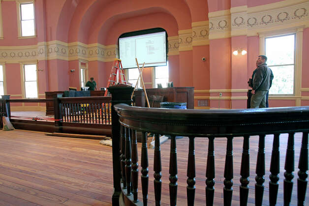 Comal County Judge Sherman Krause tours the restored courthouse. Photo: Tom Reel, San Antonio Express-News / ©2012 San Antono Express-News
