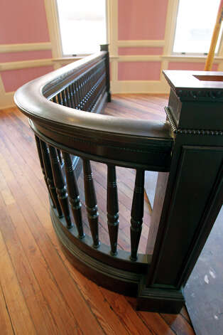 Rails follow the origianl design in the restored courthouse. Photo: Tom Reel, San Antonio Express-News / ©2012 San Antono Express-News