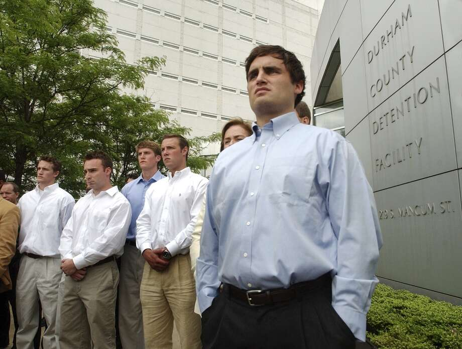 2006 | Duke lacrosse players are falsely accused of rapeIn March 2006, a stripper who was hired for a Duke lacrosse team party accused three players of raping her at the event. After a long and high-profile investigation and trial, the players were cleared of all charges in April 2007 when it became clear the accusation was false. The lead prosecutor, Mike Nifong, was eventually disbarred for the case and spent a night in jail for contempt of court. Photo: Sara Davis, Getty Images / 2006 Getty Images