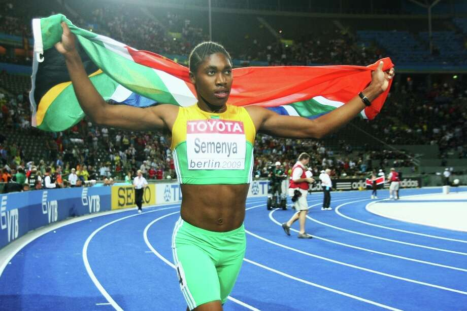 2009 | Caster Semenya is subjected to gender testingSouth Africa's Caster Semenya won gold (pictured) in the 800 meters at the 2009 track and field world championships, finishing in a record time of 1:56.72. But her amazing improvement in the previous seven months raised suspicion that she was doping or was -- of all things -- not female. Semenya was asked to take a gender test, which showed she was, in fact, a woman. Photo: Alexander Hassenstein, Bongarts/Getty Images / 2009 Getty Images