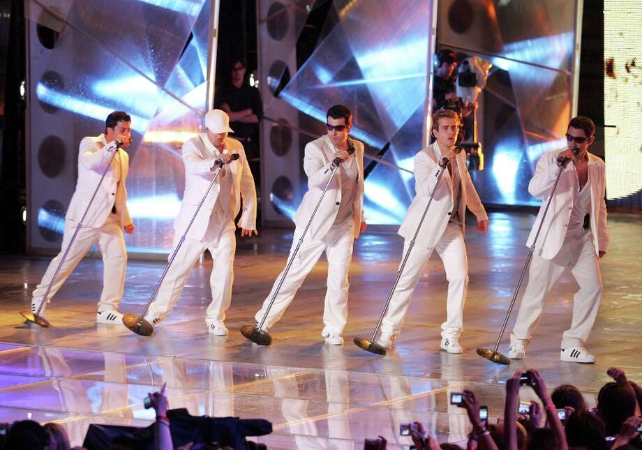 The New Kids on the Block 2.0 -- perform at the 2008 MuchMusic Video Awards in Toronto. Photo: Malcolm Taylor, Getty Images / ONLINE_YES