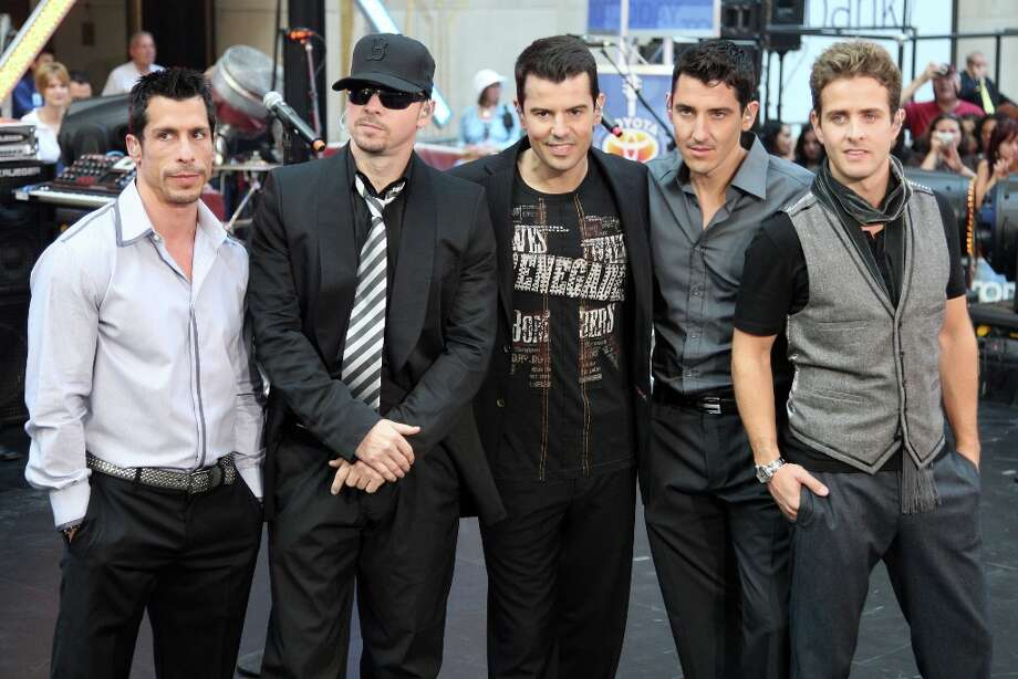 Danny Wood, Donnie Wahlberg, Jordan Knight, Jonathan Knight and Joey McIntyre of New Kids On The Block perform on NBC's Today in New York City. Photo: Bryan Bedder, Getty Images / Getty Images North America