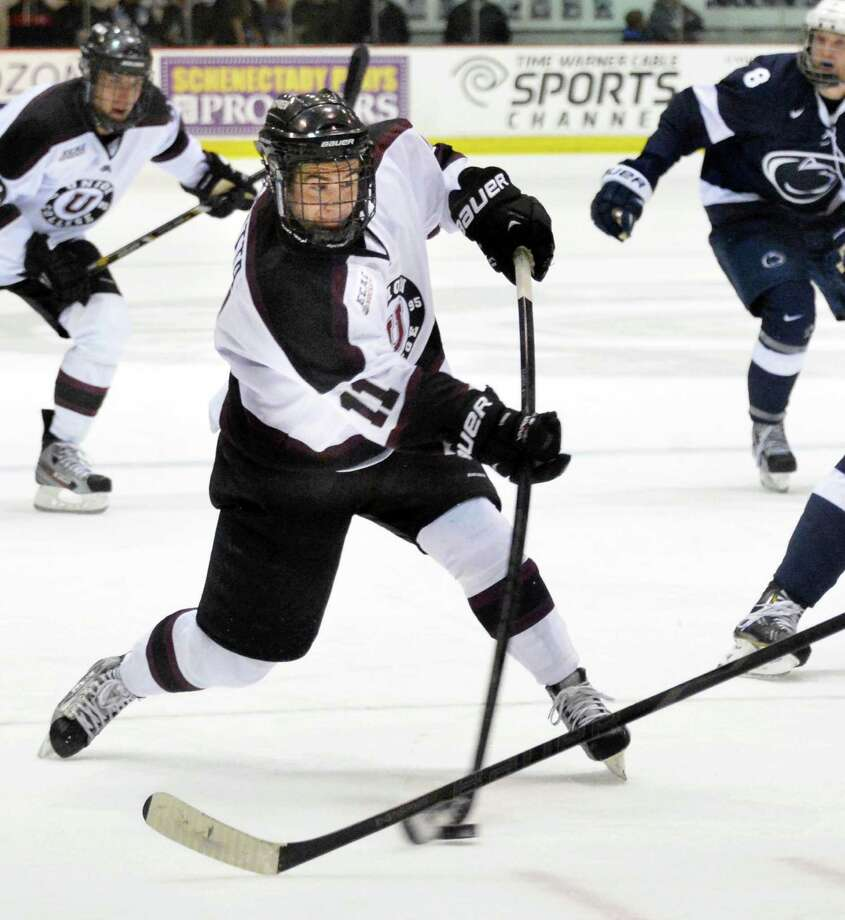 The Brown Bears play the Union College Dutchmen at 7 p.m. Saturday at the Messa Rink in Schenectady. Click here for more information. (John Carl D'Annibale / Times Union) Photo: John Carl D'Annibale, Contributed / 00020184A