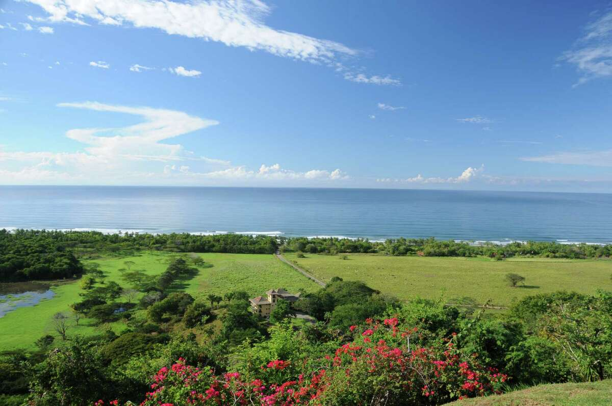 The view from Cristal Azul, a bed and breakfast in Playa San Miguel, Costa Rica, owned by Darien native Zene Randall Morales and her husband Henner.