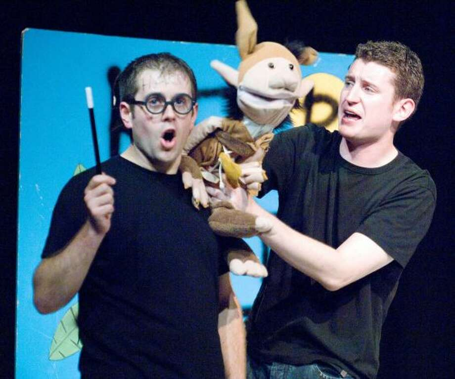 """Potted Potter,"" a two-man parody, claims it's ""all seven Harry Potter books in 70 hilarious minutes."" See for yourself at Proctors in Schenectady. 7:30 and 9:30 p.m. Friday, 1:30 and 7:30 p.m. Saturday, 1:30 p.m. Sunday. Click here for information. (Geraint Lewis) Photo: Contributed"
