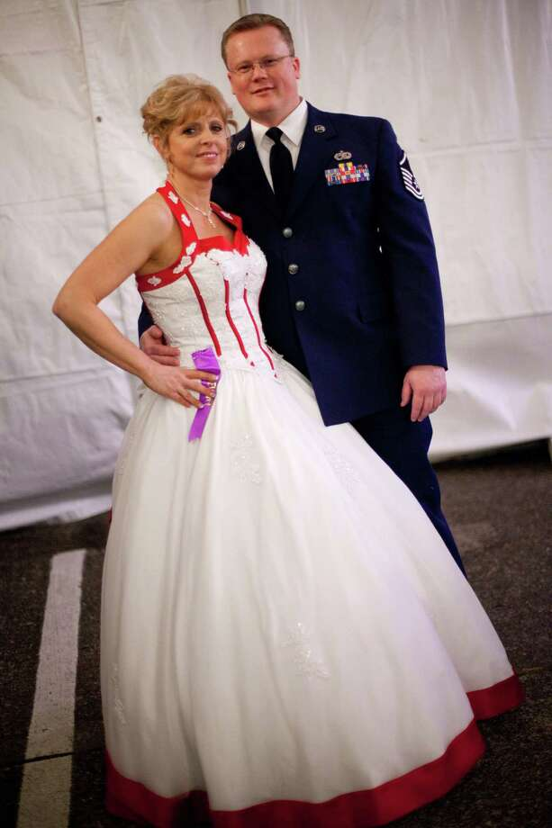 Lewis McChord Air Force Master Sgt. Horace Greeley is shown with Shellie