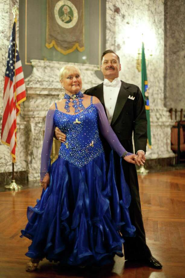 Frank Spaniak and Gisela Spaniak of Tacoma take a break from ballroom dancing to show their formal wear. Photo: JOSHUA TRUJILLO, SEATTLEPI.COM / SEATTLEPI.COM