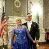 Frank Spaniak and Gisela Spaniak of Tacoma are shown during the Washington State Governor's Inaugural Ball on Wednesday in the State Capitol building in Olympia. The ball celebrates the beginning of the term of Jay Inslee as governor. Guests came out in the best clothes for the event.