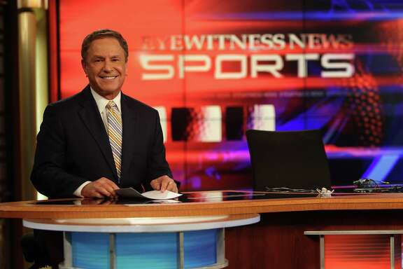 Bob Allen,Channel 13 Sports Anchor, preparing for his last show this Thursday on Wednesday, Jan. 16, 2013, in Houston.