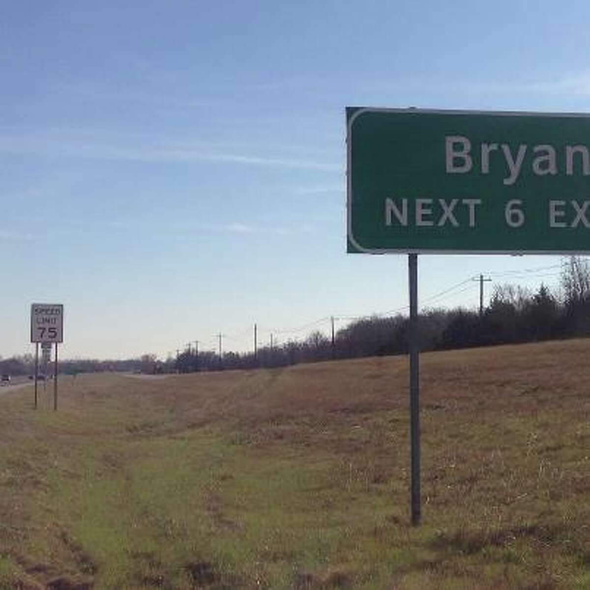 The pace of life has sped up a notch in Bryan-College Station as state highway officials install new 75 mph speed limit signs on Texas 6.