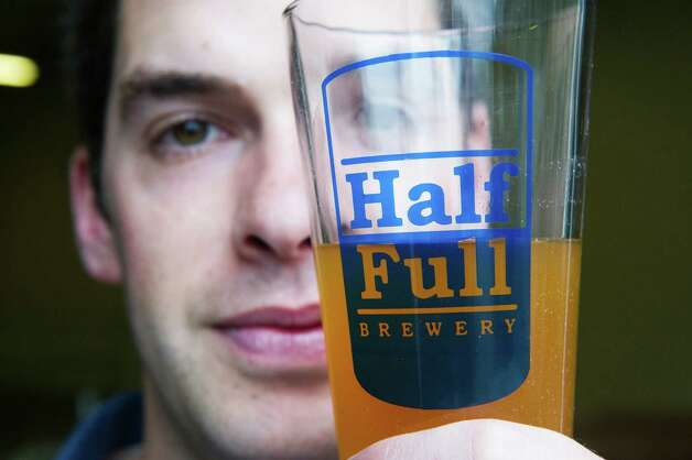 "Conor Horrigan is opening a local brewery called ""Half Full"" in Stamford, Conn., March 21, 2012. Photo: Keelin Daly / Stamford Advocate"