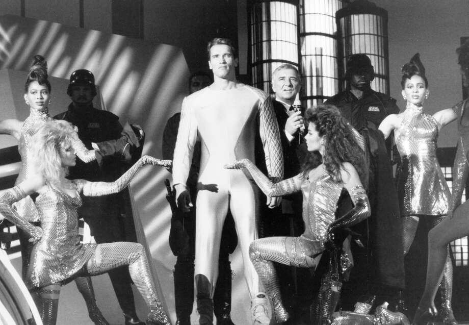12. THE RUNNING MAN (1987): I want to like this film more. It stars Yaphet Kotto and Richard Dawson, and there's a chainsaw fight. But there's too much running. Let Tom Cruise and Matt Damon sprint in their movies. Arnold was built to stand still with a big gun in his hands. Photo: Tri-Star Pictures / ONLINE_YES