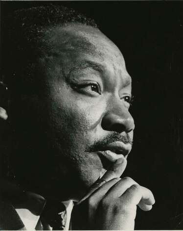 Martin Luther King Jr. in a 1967 file photo. Photo: Blair Pittman, Houston Chronicle / Houston Chronicle