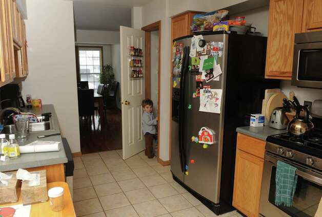 The home of Josh Trombley, Leigh Hornbeck and their two children 3-year-old Rushton Trombley and 7-month-old Devlin Trombley on Saturday Jan.12,2013 in Gansevoort, N.Y. (Michael P. Farrell/Times Union) Photo: Michael P. Farrell