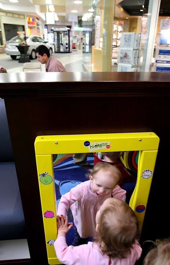 Why Skype no work on iPad? One-year-old Carly Bosacco checks herself out in a funhouse mirror at the Apple Blossom Mall in Winchester, Va. Photo: Jeff Taylor, Associated Press