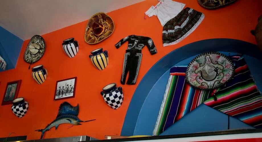 Knicknacks hanging on the wall at San Jalisco.
