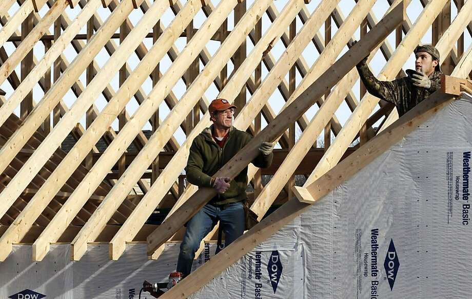 A new home is constructed in Pepper Pike, Ohio, part of a nationwide rebound in construction. Photo: Tony Dejak, Associated Press