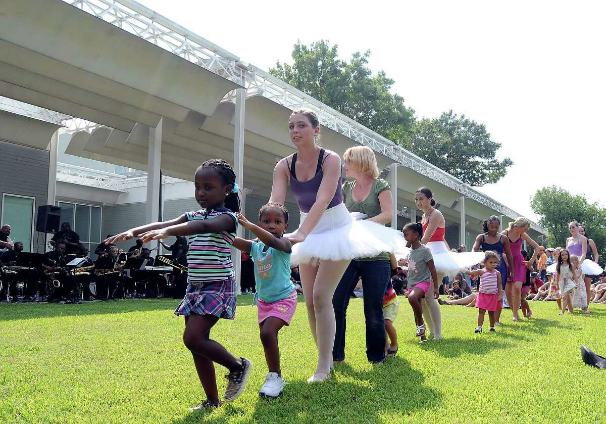 Members of Houston City Dance along with volunteers performed at a celebration of the Menil's 25th year in September.
