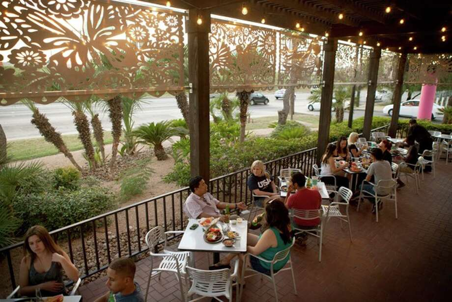 The scene on the patio at Taco Cabana. Photo: Courtesy