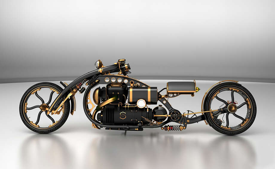 The Black Widow Steampunk Chopper. (Brett Jorden/Flickr) Photo: Multiple