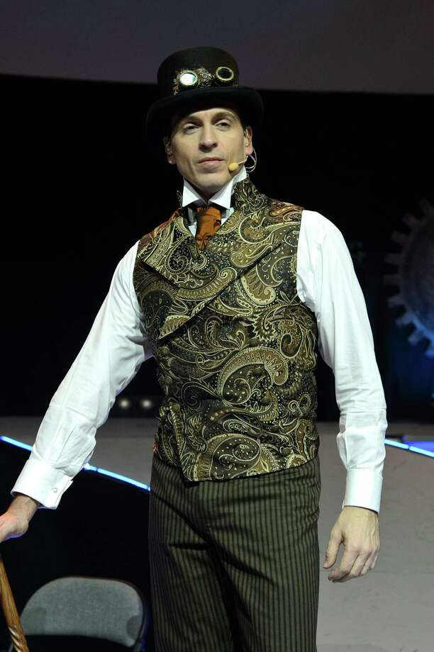 Steampunk style is showing up in many more movies - especially since the 1999 movie 'Wild, Wild, West. In this photo, Michael Falzon performs during a dress rehearsal for War of the Worlds on November 27, 2012 in London, England. (Ben Pruchnie/Getty Images) Photo: Ben Pruchnie, Multiple / 2012 Getty Images