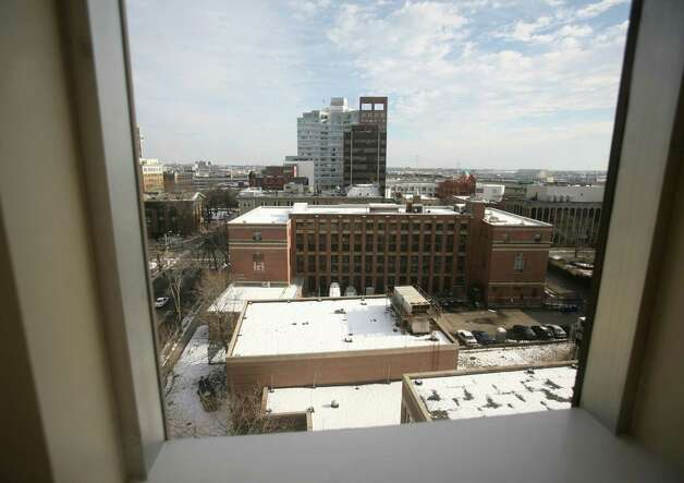 A view of downtown from one of the upper floor residential units at 333 State Street in Bridgeport on Thursday, January 17, 2012. Photo: Brian A. Pounds / Connecticut Post