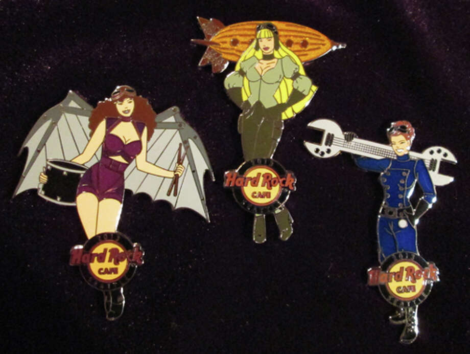 Diana Vick, vice chair of Steamcon®, said these are three steampunk girl pins she designed for the Hard Rock Cafe in Seattle. Check Steamcon 's main page for more photos and details related to  Steamcon and its upcoming events. (Diana Vick) Photo: Multiple