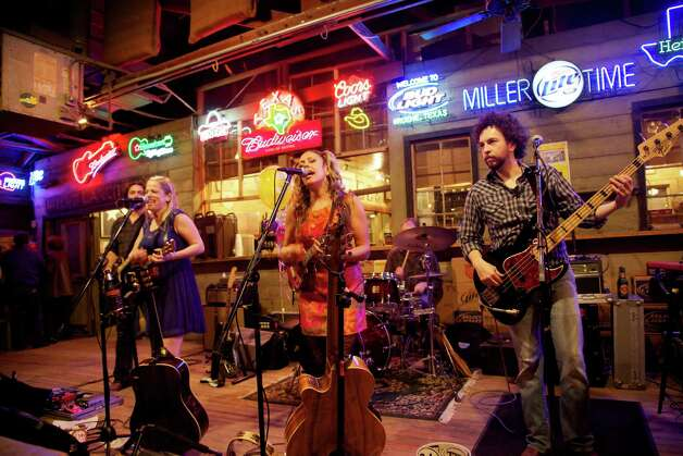 The Whiskey Sisters playing at Gruene Hall.