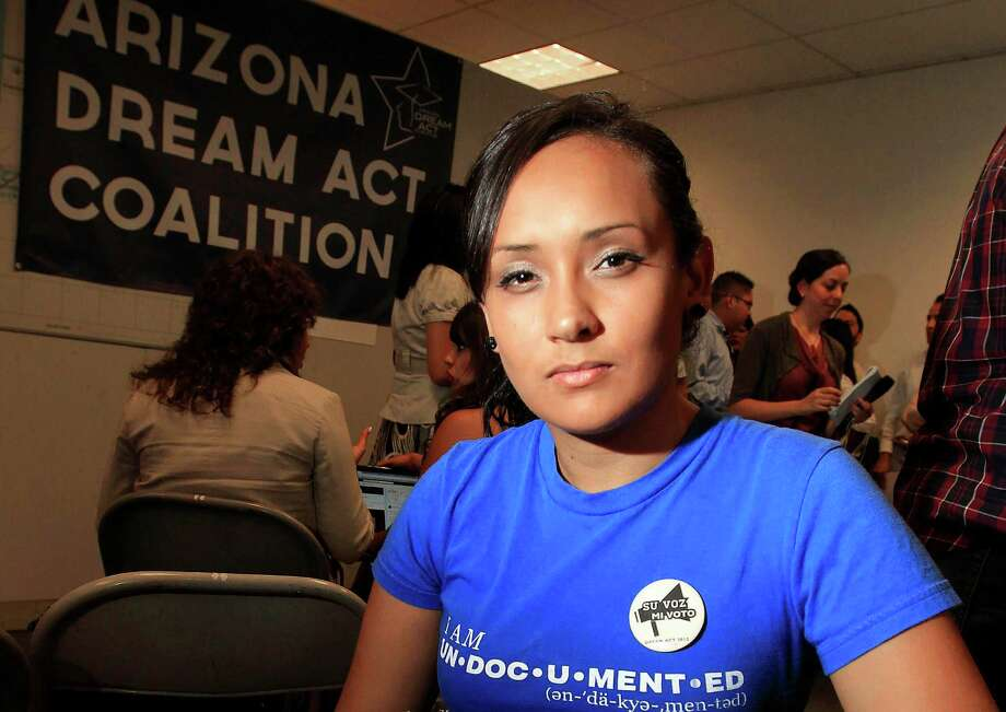 Erika Andiola learned what it really means to be an undocumented immigrant in Barack Obama's America. Photo: Ross D. Franklin, Associated Press / AP