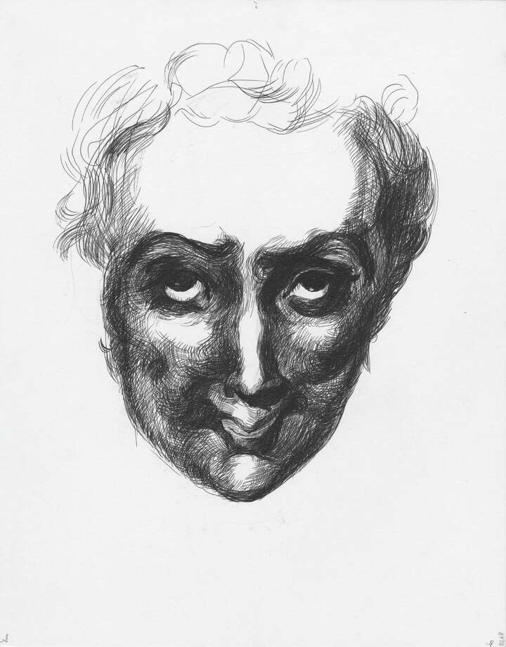 Sara Peter's Portrait #28, 2008, pen and ink and pencil on paper, 14 x 11 inches on view at John Davis Gallery,  , 362 ½ Warren Street, Hudson, through Jan. 27, 2013. (Courtesy John Davis Gallery)