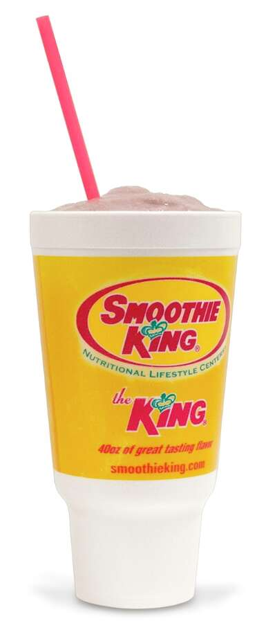 Peanut Power Plus Grape Smoothie at Smoothie King: 1,460 calories, 22 teaspoons of added sugar.  CSPI says you can make this smoothie 'skinny' and get it down to 1,060 calories.
