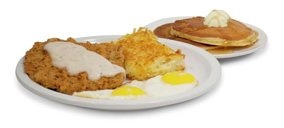 Country Fried Steak and Eggs at IHOP: 1,760 calories, 23 grams of saturated fat, 3,720 milligrams of sodium. 'Think of it as five McDonald's Egg McMuffins sprinkled with 10 packets of sugar,' CSPI says.