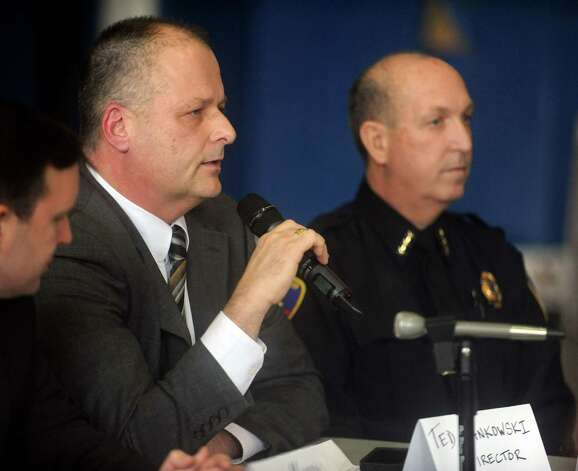 Stamford Director of Public Safety Ted Jankowski speaks during a roundtable discussion about curbing gun violence at the Yerwood Community Center in Stamford on Thursday, January 17, 2013. Photo: Lindsay Perry / Stamford Advocate