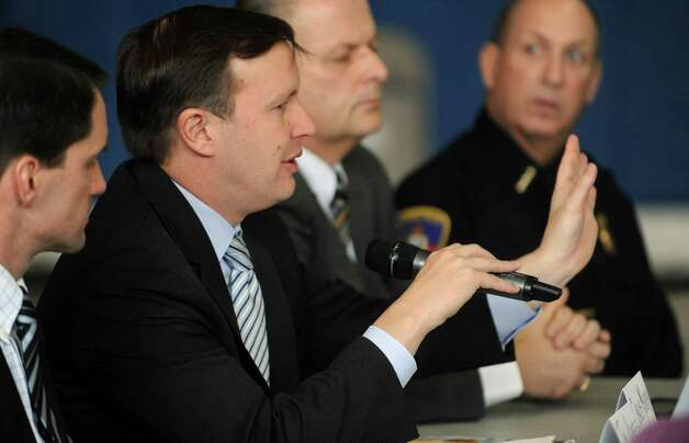 U.S. Senator Chris Murphy (D-Conn.) speaks during a roundtable discussion about curbing gun violence at the Yerwood Community Center in Stamford on Thursday, January 17, 2013. Photo: Lindsay Perry / Stamford Advocate