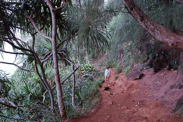 The Kalalau Trail can be especially tricky in winter, as one Aloha Friday reader who was unfortunate enough to be hospitalized after an accident hiking there found out. Photo: Jeanne Cooper, Special To SFGate