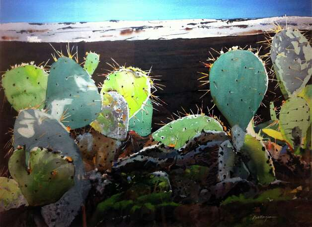 """San Jose Cactus"" is among the paintings by Ric Dentinger that will be part of the Western Art Show. Photo: Courtesy Ric Dentinger"