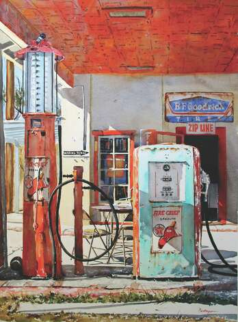 """Waring, Texas"" is among the works by painter Ric Dentinger that will be part of the Western Art Show."