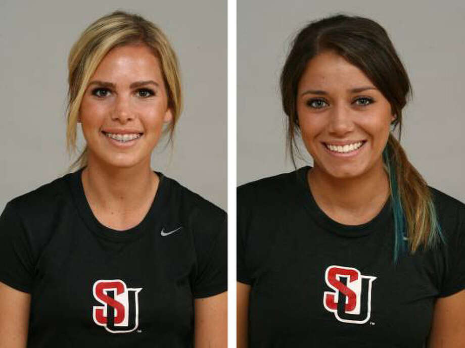 7. Shawna Anderson and Taylor Bolibol -- Seattle U soccer playersAnderson (left) is a nursing major from Pasco. Bolibol, in her other career, is a singer and songwriter from Woodinville. Photo: GoSeattleU.com, Courtesy Photos / GoSeattleU.com