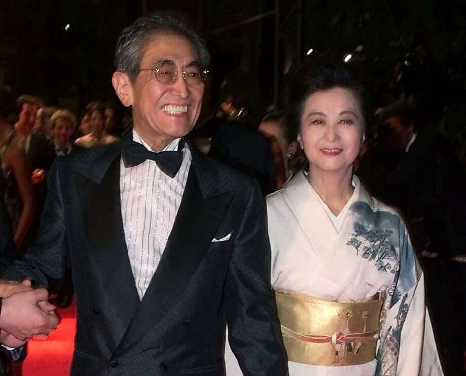 Japanese director Nagisa Oshima and wife Akiko Koyama attend the Cannes Film Festival in 2000. Photo: Laurent Rebours, Associated Press
