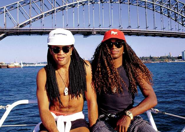 "Rewind to the late '80s, when people actually danced to Milli Vanilli (Rob Pilatus, left and Fabrice Morvan). After performing at packed arena shows across the United States and selling millions of records of their hit album, ""Girl You Know It's True,"" it was revealed that the hirsute duo did not sing on their songs, or in concert. In 1990, they gave back their Grammy for best new artist. Photo: Getty Images"