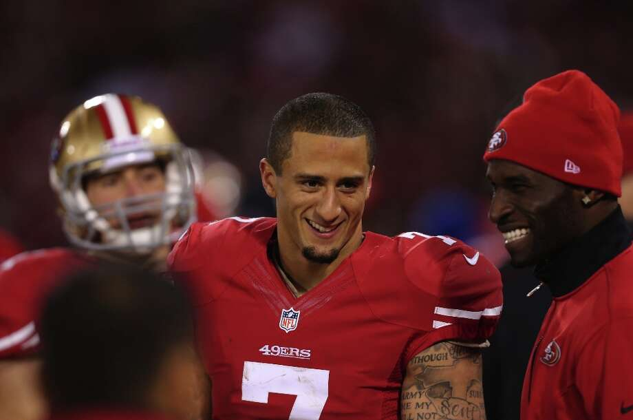 Kap celebrates at the end of his first postseason start: a resounding victory over the Packers. Photo: Michael Macor, The Chronicle / ONLINE_YES