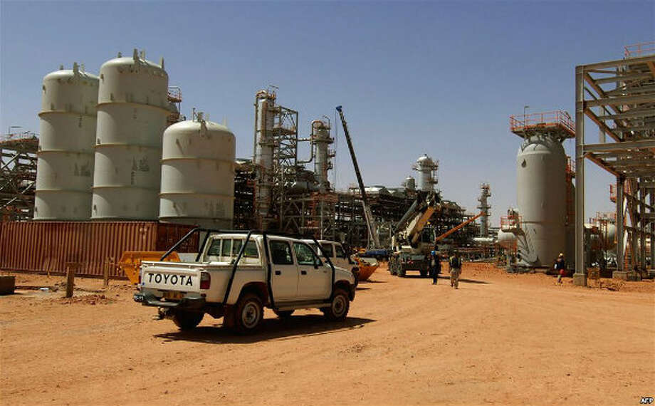 The Amenas natural gas field in the eastern central region of Algeria, where Islamist militants raided and took hostages Wednesday Jan. 16, 2013.