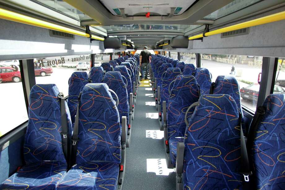 Megabus, a 7-year-old subsidiary of Coach USA, rolled into the Lone Star State last June. Photo: James Nielsen, Staff / © Houston Chronicle 2012