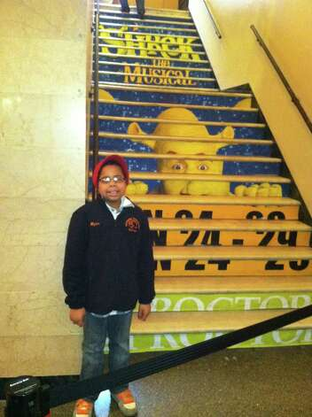 "Myles McAdoo at Proctors Theatre before seeing ""Beauty and the Beast."" Myles McAdoo died Tuesday, July 24, 2012 after a recurrence of brain cancer, six months after the diagnosis. In that time in between he lived a full life. (Laurel McAdoo)"