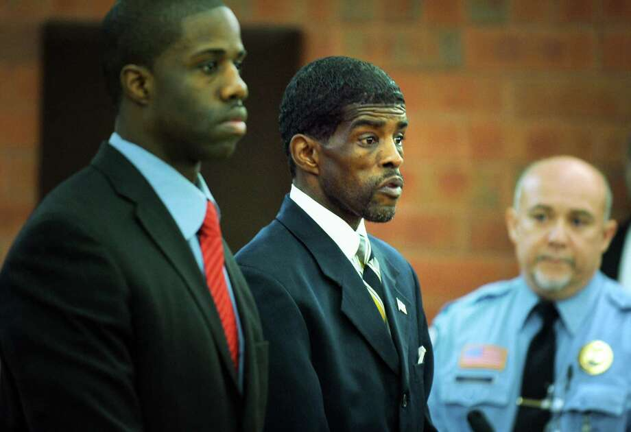 Former Bridgeport state Sen. Ernest E. Newton II appears in Hartford Superior Court Thursday, Jan. 17, 2013.  A Superior Court judge entered a not guilty plea for Newton to charges he fraudulently obtained thousands of dollars in public funds to finance a failed comeback campaign for his old seat last year. Photo: Autumn Driscoll / Connecticut Post