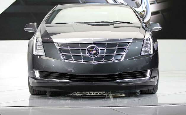 The 2014 Cadillac ELR is introduced at the 2013 North American International Auto Show in Detroit, Michigan, January 15, 2013. AFP PHOTO/GEOFF ROBINSGEOFF ROBINS/AFP/Getty Images Photo: GEOFF ROBINS, AFP/Getty Images / AFP