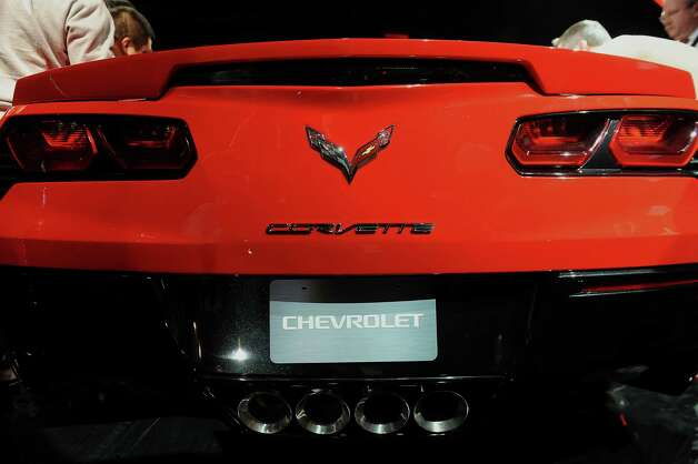 The 2014 Chevrolet Corvette Stingray is displayed after being unveiled ahead of the 2013 North American International Auto Show (NAIAS) in Detroit, Michigan, U.S., on Sunday, Jan. 13, 2013. The new model, set to reach dealers in this year's third quarter, is part of the push to breathe new life into the Chevy brand, which accounted for 71 percent of GM's 2012 U.S. sales. Photographer: Daniel Acker/Bloomberg Photo: Daniel Acker, Bloomberg / © 2013 Bloomberg Finance LP