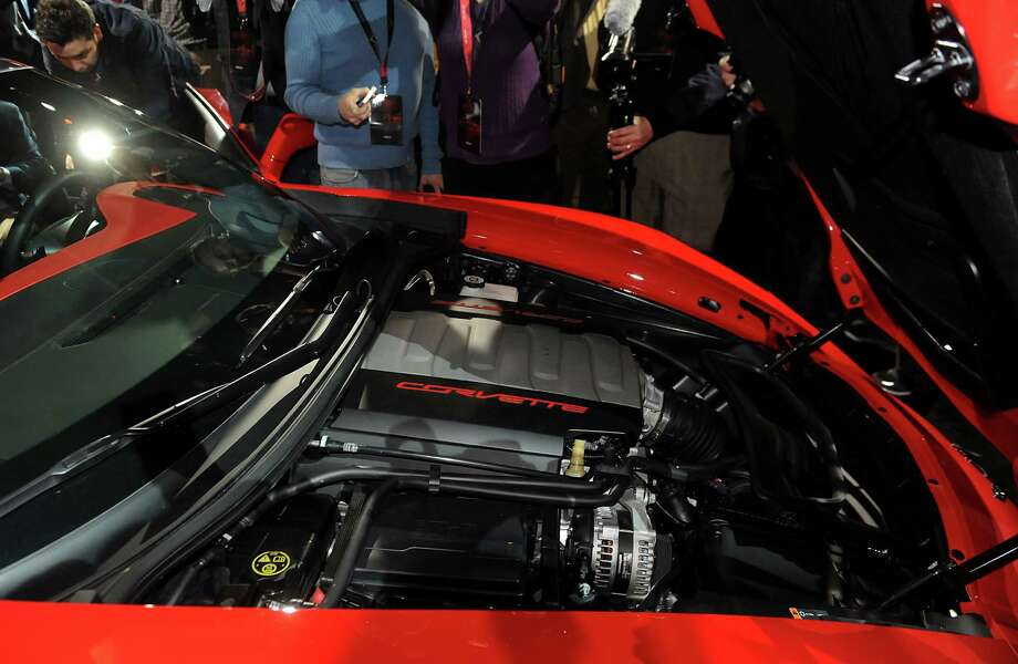 The engine of the 2014 Chevrolet Corvette Stingray is seen after the unveiling ahead of the 2013 North American International Auto Show (NAIAS) in Detroit, Michigan, U.S., on Sunday, Jan. 13, 2013. The new model, set to reach dealers in this year's third quarter, is part of the push to breathe new life into the Chevy brand, which accounted for 71 percent of GM's 2012 U.S. sales. Photographer: Daniel Acker/Bloomberg Photo: Daniel Acker, Bloomberg / © 2013 Bloomberg Finance LP