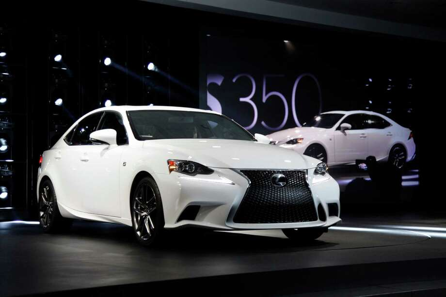 The Lexus IS 350 F Sport debuts at media previews for the North American International Auto Show in Detroit, Tuesday, Jan. 15, 2013.  (AP Photo/Paul Sancya) Photo: Paul Sancya, Associated Press / AP